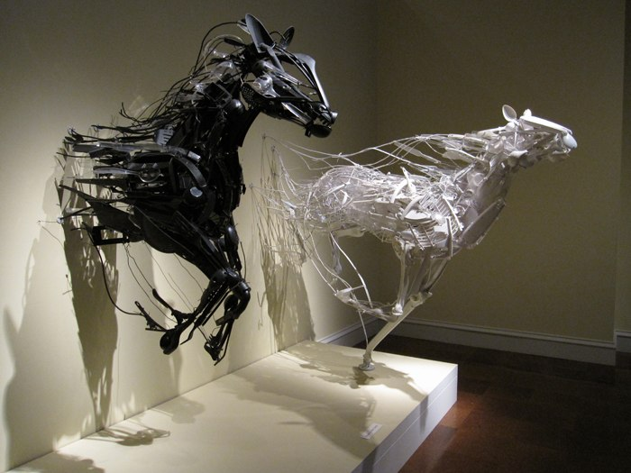 recycled sculptures